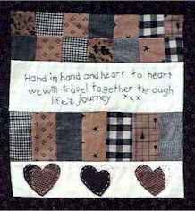 Hand in hand mini quilt pattern