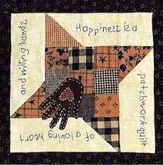 Happiness is a patchwork quilt pattern