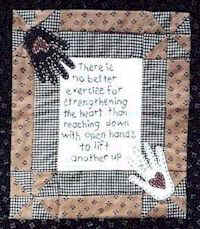 Strengthing the heart mini quilt pattern