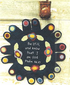 Be still and know that I am God penny rug pattern