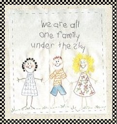 One family primitive inspirational stitchery