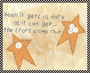 stars come out primitive inspirational stitchery