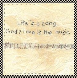 Life is a song primitive inspirational stitchery