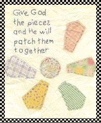 Give God the pieces stitchery pattern