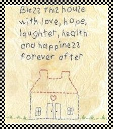 bless this house primitive stitchery pattern