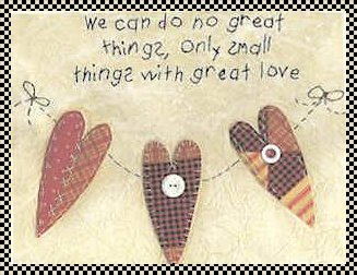we can do no great things stitchery pattern