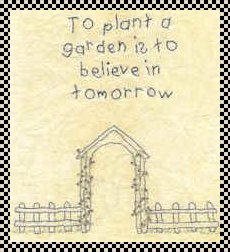 to plant a garden is to believe in tomorrow stitchery pattern