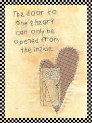 One's heart primitive inspirational stitchery