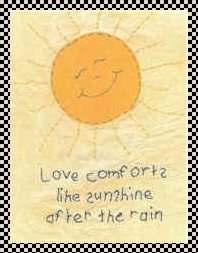Love comforts primitive inspirational stitchery