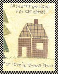 Home for Christmas primitive inspirational stitchery