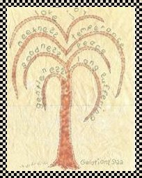 Fruits of the spirit primitive inspirational stitchery