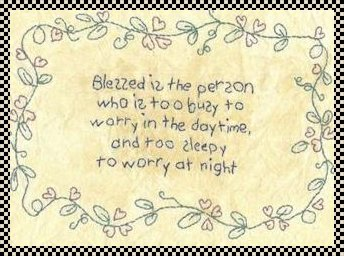 Blessed primitive inspirational stitchery