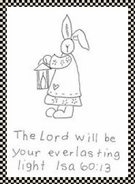 The Lord will be my everlasting light primitive stitchery pattern